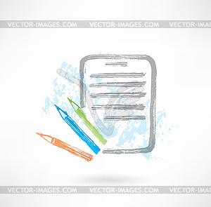 Liste Grunge-Ikone - Royalty-Free Vektor-Clipart