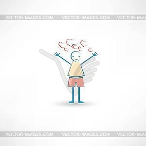 Jungen in der Liebe - Vector-Illustration