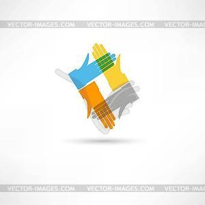 Kommunikations Hände - vektorisierte Grafik