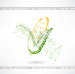 Corn Grunge-Ikone - Vector-Clipart EPS