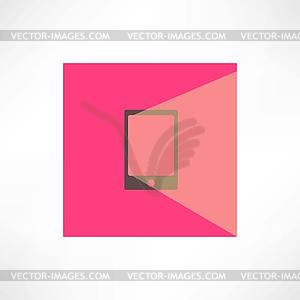 Ein Handy auf rosa Hintergrund - Vector-Clipart / Vektor-Bild
