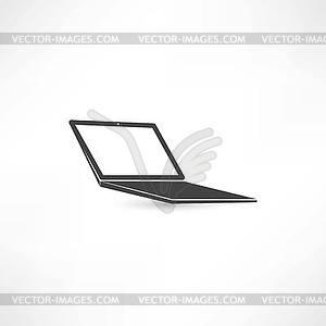 Computer-Notebook-Symbol - Stock Vektor-Bild