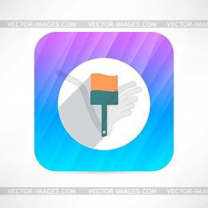 Paint Brush Icon - Vector-Illustration