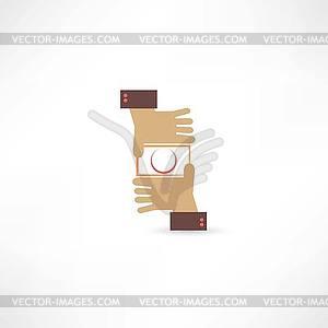 Kamera-Hand-Symbol - vektorisierte Abbildung