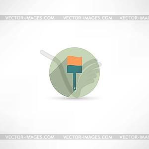 Paint Brush Icon - Vektor-Clipart / Vektorgrafik