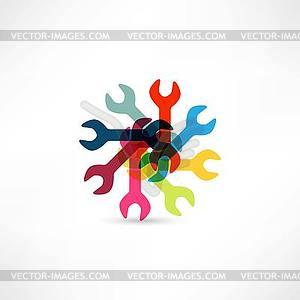 Schraubenschlüssel-Icon - vektorisiertes Bild