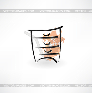 Nachttisch-Grunge-Ikone - Vector-Clipart EPS