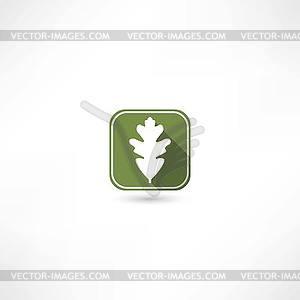 Eichenblatt-Symbol - Vektor-Clipart / Vektor-Bild