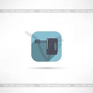 Küchenhandsymbol Mischer - Vektorgrafik