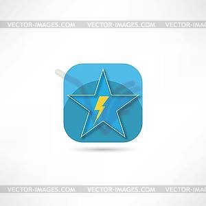 Blitz-Symbol - Vektor-Clipart EPS