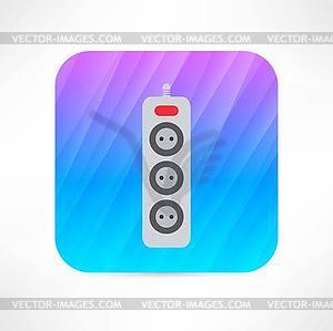 Verlängerungskabel Symbol - Vector-Clipart / Vektor-Bild