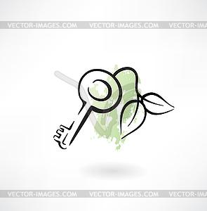 Eco-Taste Grunge Symbol - Vector-Clipart