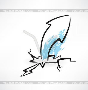 Arrow Grunge-Ikone - Vector-Clipart / Vektorgrafik