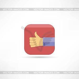 Thumb Up Icon - Vektor-Illustration
