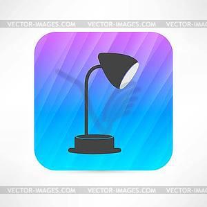 Tischleuchte Symbol - vektorisiertes Clip-Art