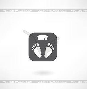 Skalen zur Messung von Gewicht der menschlichen Symbol - Vektor-Illustration