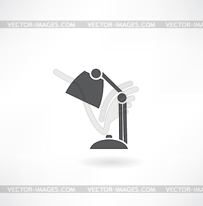 Tischleuchte Symbol - Stock Vektor-Bild