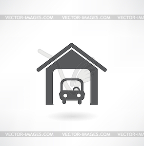 Garage icon - Stock Vektorgrafik