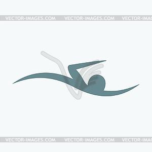Schwimmer icon - Vector-Clipart