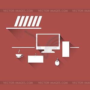 Arbeitsplatz-Symbol - Stock Vektorgrafik