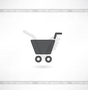 Warenkorb Icon Set - vektorisiertes Bild