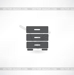 Schublade Symbol - Vektor-Clipart EPS