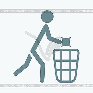 Mülle nicht Zeichen - Vektor-Clipart / Vektor-Bild