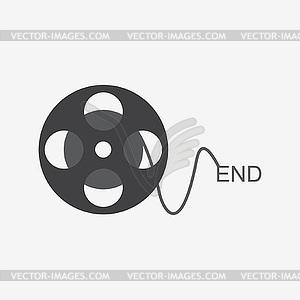 Ende der Filmsymbol - vektorisiertes Clip-Art