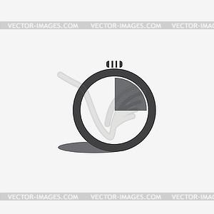 Stoppuhrsymbol - Vektor-Skizze