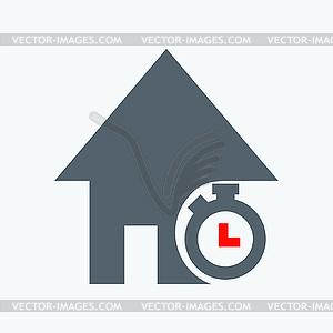 Dauer von Wohnungsbaudarlehen - Vektor-Clipart / Vektorgrafik