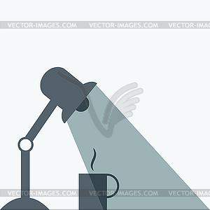Tischlampe und Kaffee-Symbol - Vektor-Clipart EPS