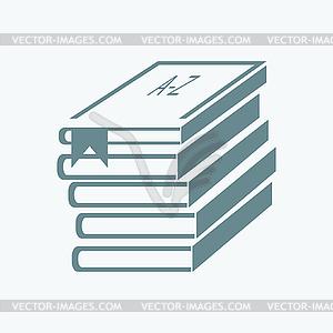 Stapel Bücher (Bücher gestapelt) - vektorisiertes Clipart