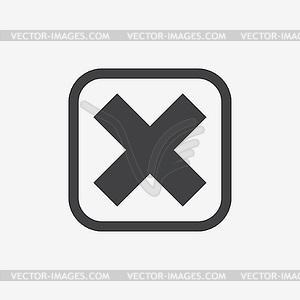 überqueren in Rahmen. Kontrollkästchen Symbol - Vektor-Clipart EPS