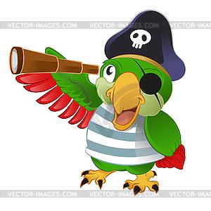 Pirat-Papagei - Vector-Clipart / Vektorgrafik