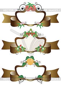 Frames mit Obst - Vektorgrafik-Design