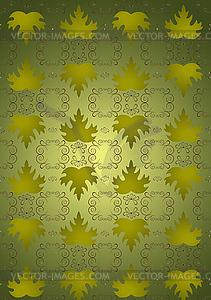 Nahtlose Hintergrund Blätter von grünen Trauben - Vector-Design