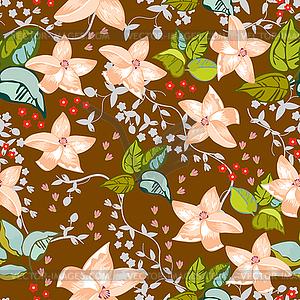 Cute floral nahtlose Muster Hintergrund - Vektor-Illustration
