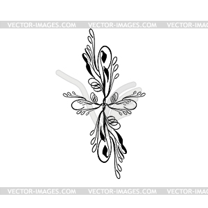 Blumenkreuz auf weißem - Royalty-Free Clipart