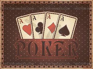 Weinlese-Casino-Einladungskarte, Vektor-Illustration - Vektor-Klipart