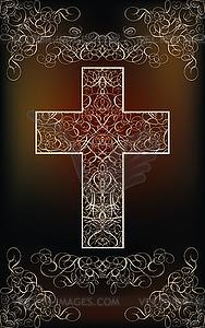 Frohe Ostern Karte mit Kreuz, Vektor-Illustration - Vektorgrafik