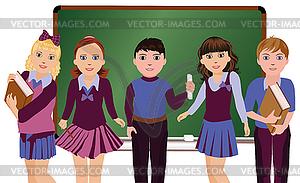 Zurück in die Schule Kleine Innen und Berliner - Stock Vektor-Bild