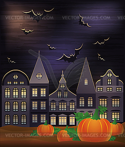 Happy Halloween Wallpaper, Vektor-Illustration - Vektorgrafik