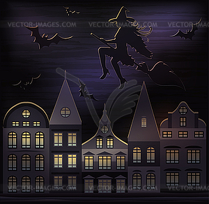 Happy Halloween Hintergrund, Vektor-Illustration - Vektor-Bild