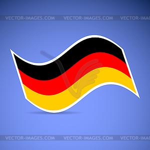 Deutschland Flagge - Klipart