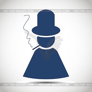 Man Silhouette Symbol - Stock-Clipart