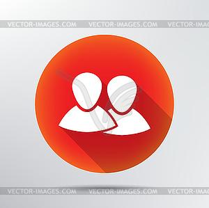 Zwei Menschen Symbol - vektorisiertes Design