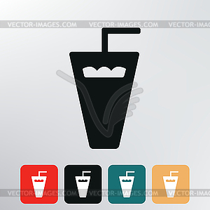 Kunststoffglas-Symbol - Royalty-Free Clipart
