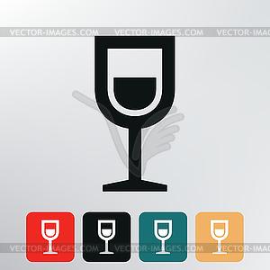 Schnapsgetränk Symbol - vektorisiertes Bild