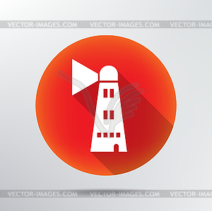 Lighthouse icon - Vektor-Clipart / Vektorgrafik