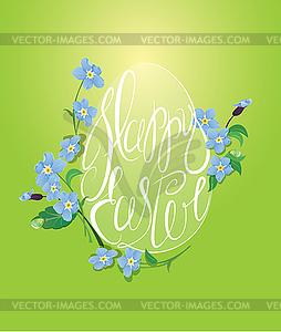 Feiertagsgrußkarte mit Ei gemacht ist - Vector-Bild
